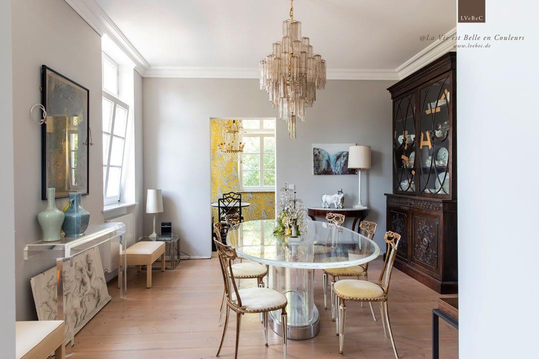 Farbkonzept fuer Esszimmer und Teezimmer